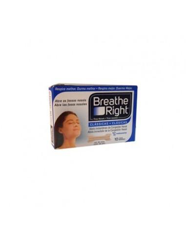 Breathe Right Tiras nasales 10 tirasgrandes