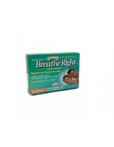 Breathe Right Tiras nasales mentoladas 8 tiras pequeñas
