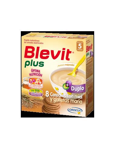 Blevit Plus papilla Duplo 8 cereales con miel y galleta 600gr