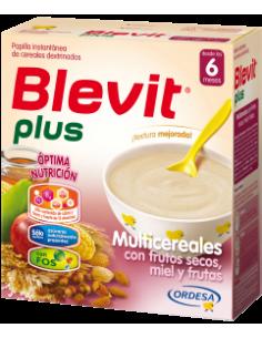 Blevit Plus papilla Multicereales con frutos secos, miel y frutas 600gr