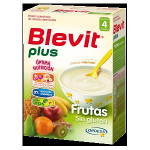 Blevit Plus papilla frutas Sin Gluten 600gr