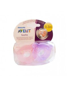 Avent chupetes 0-3m rosa 2unid.