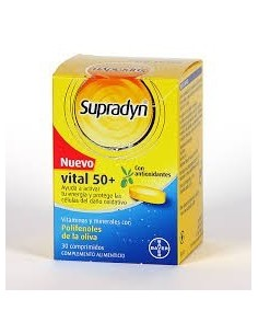 Supradyn vital +50 antioxidantes 30comp
