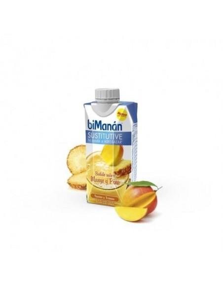 Bimanan sustitutive batido de mango y piña 330ml