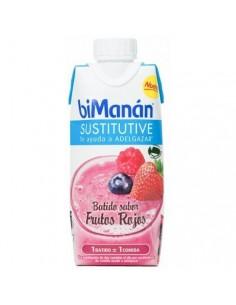 Bimanan sustitutive batido de frutos rojos 330ml