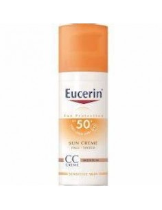 Eucerin sun 50+ crema rostro color 50ml