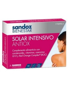 Sandoz bienestar solar intensivo antiox 30 caps