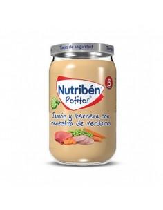 Nutriben jamon y ternera con menestra de verdura 235gr
