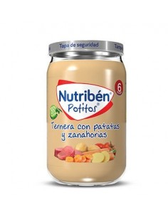 Nutriben ternera con patatas y zanahorias 235gr