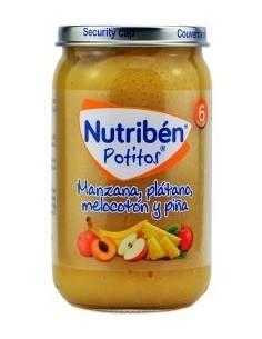 Nutriben manzana, naranja, platano y piña 235gr