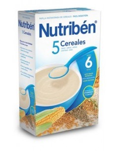 Nutribén papilla 5 cereales 600gr
