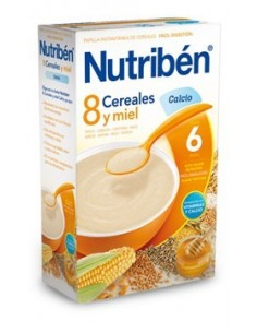 Nutribén papilla 8 cereales miel y calcio 600gr