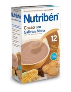 Nutribén papilla cacao con galletas maría 600gr