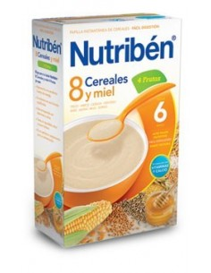 Nutribén papilla 8 cereales miel 4 frutas 600gr