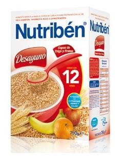 Nutribén desayuno copos de trigo con frutas 750gr