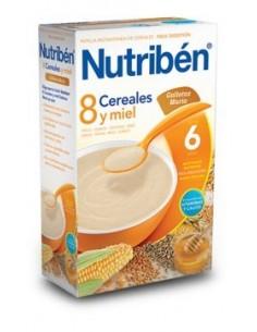 Nutribén papilla 8 cereales miel galletas maría 600gr