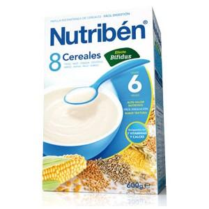 Nutribén papilla 8 cereales efecto bífidus 600gr