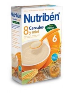 Nutribén papilla 8 cereales y miel efecto bífidus 600gr