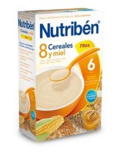 Nutribén papilla 8 cereales miel y fibra 600gr