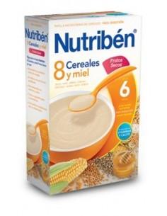 Nutribén papilla 8 cereales miel con frutos secos 600gr