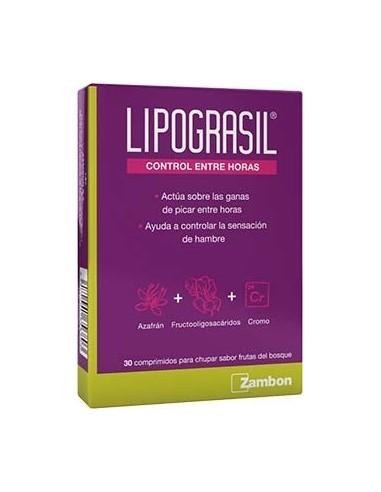 Lipograsil Control entre horas 30 comprimidos para chupar sabor frutas del bosque