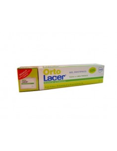 Orto Lacer gel dentífrico lima 75ml