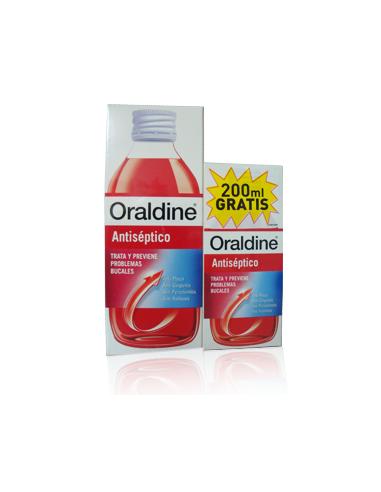 Oraldine colutorio antiséptico 400ml+200ml